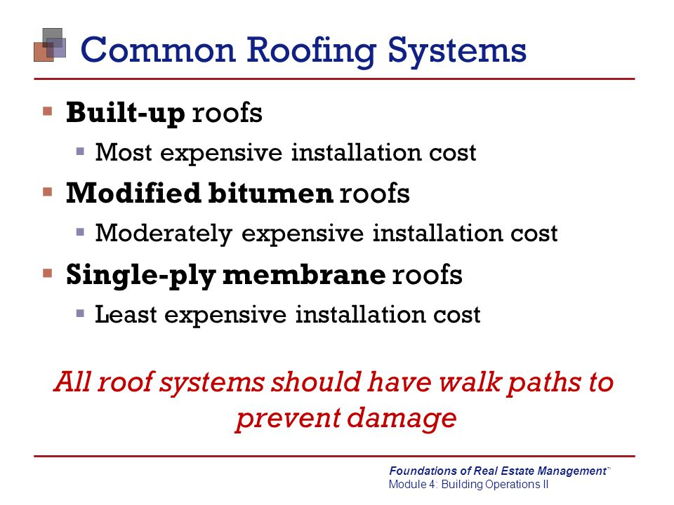 Common Roofing Systems