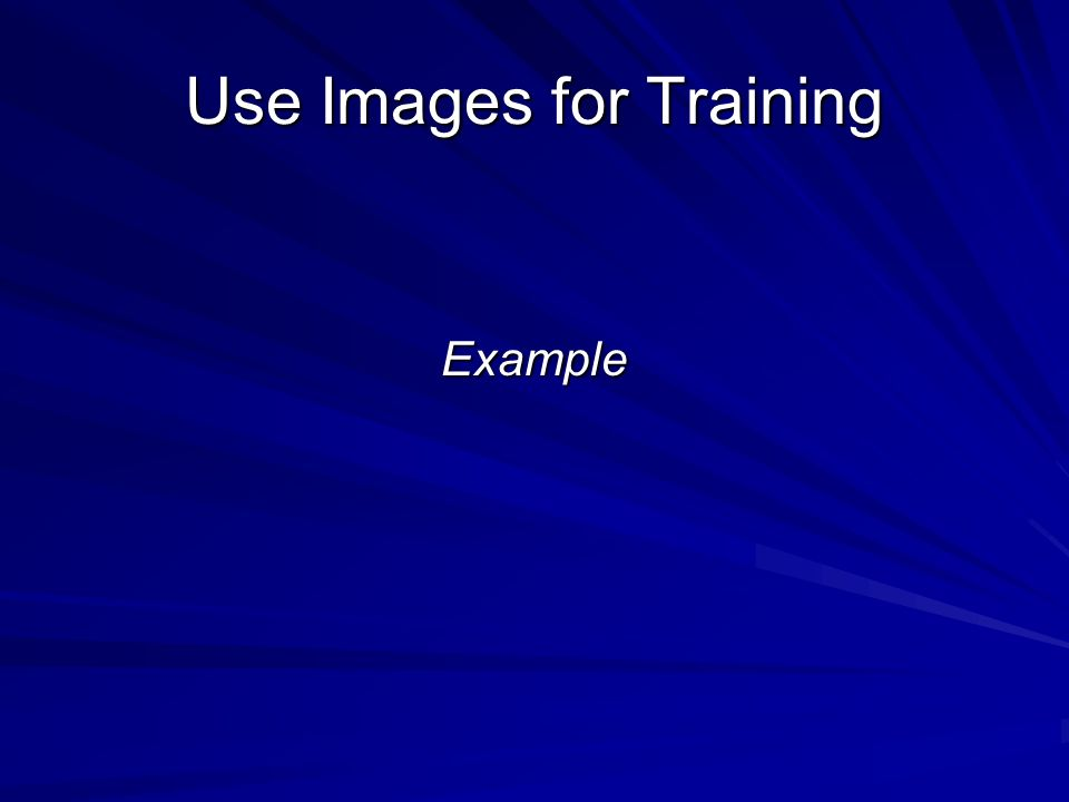 Use Images for Training