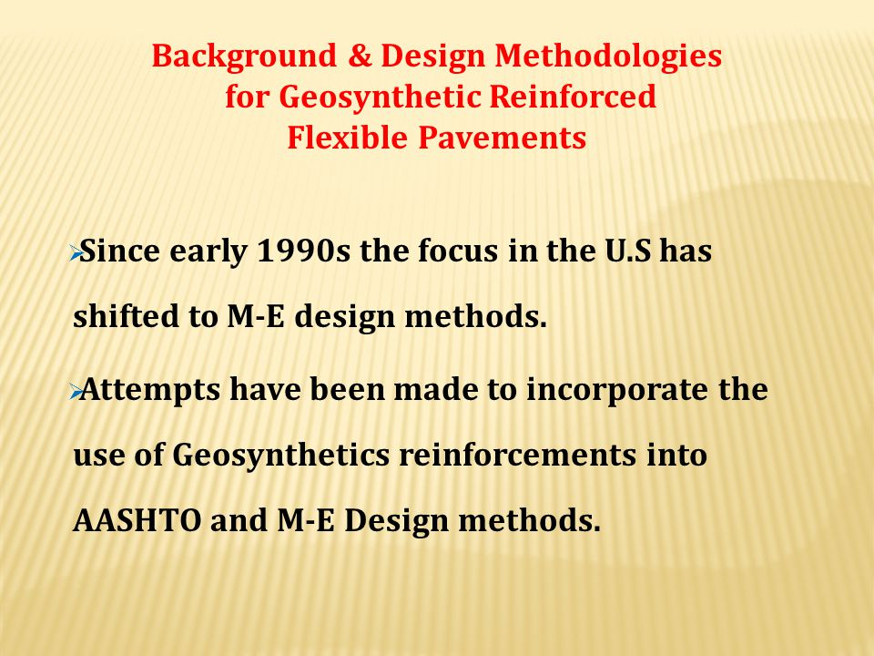 Background & Design Methodologies for Geosynthetic Reinforced