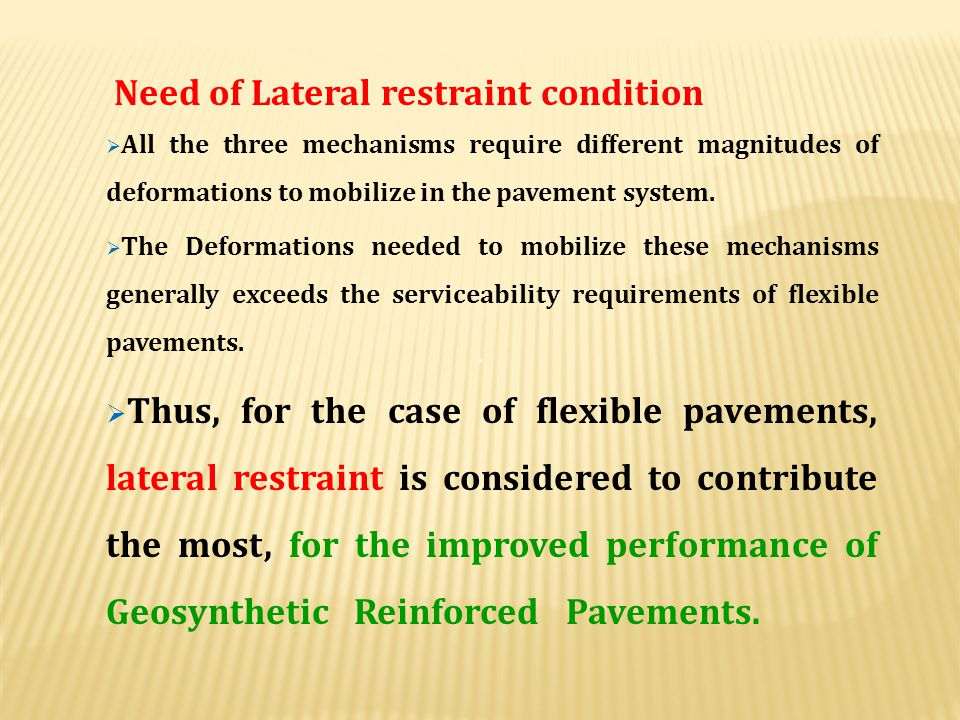 Need of Lateral restraint condition
