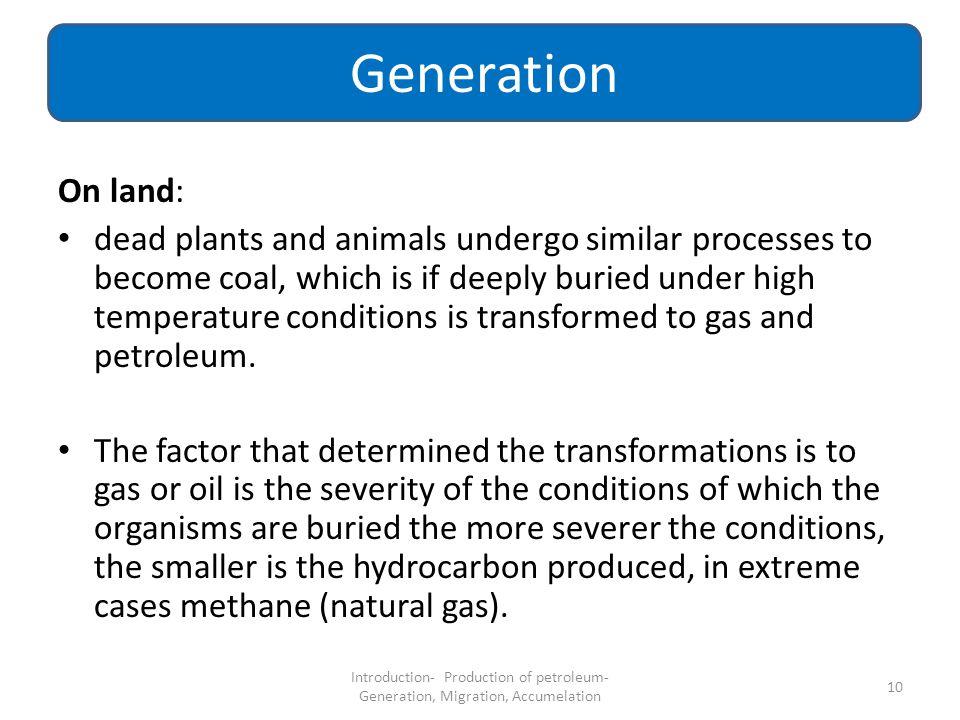 Generation On land: