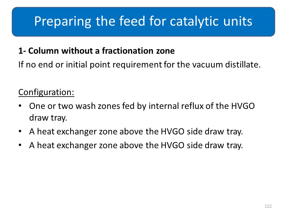 Preparing the feed for catalytic units