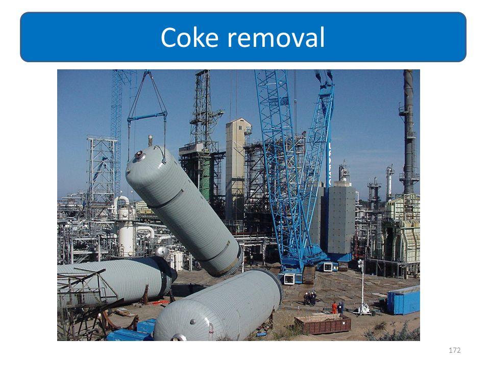 Coke removal