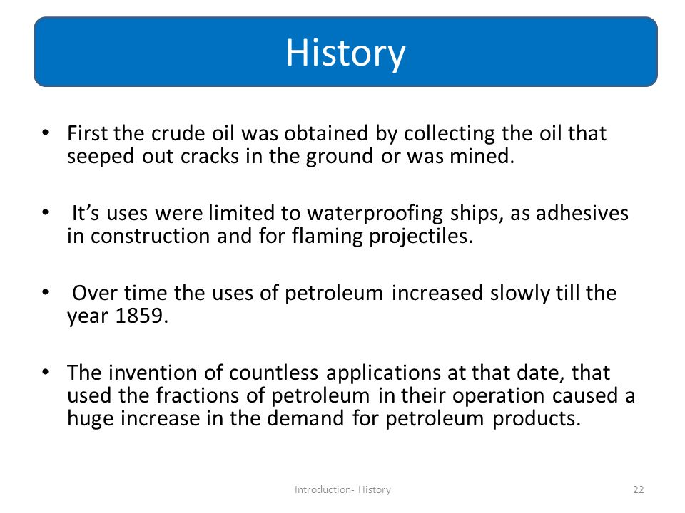 Introduction- History