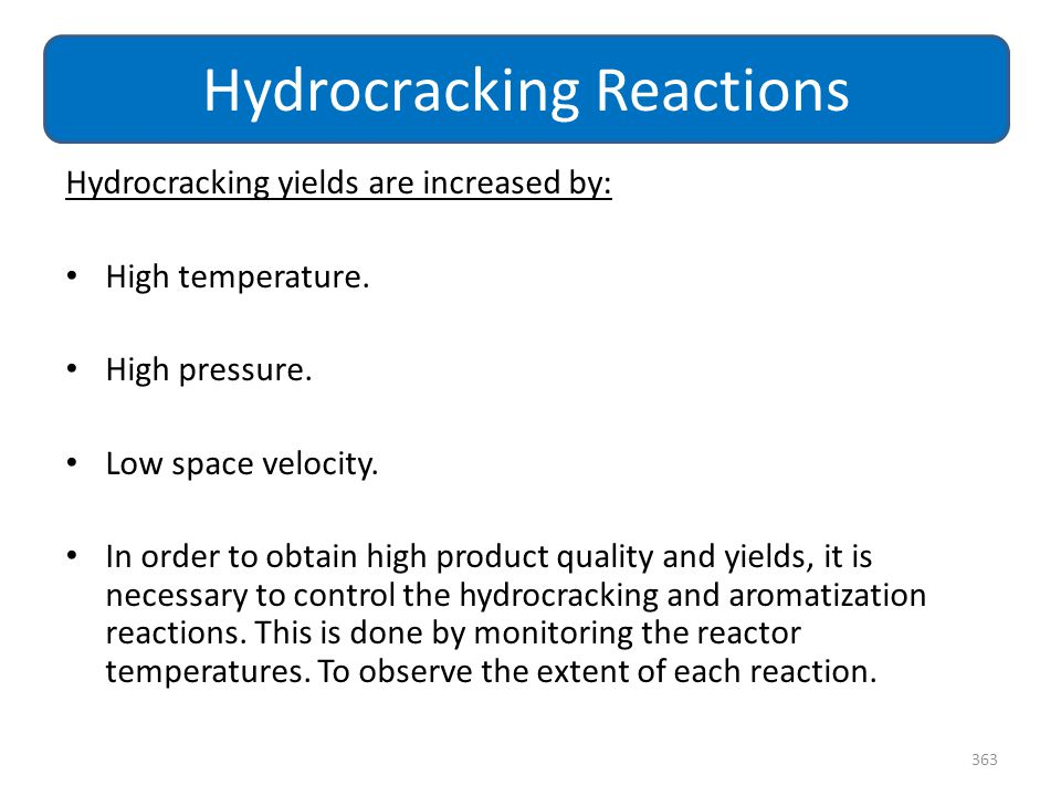 Hydrocracking Reactions