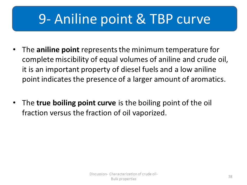 9- Aniline point & TBP curve