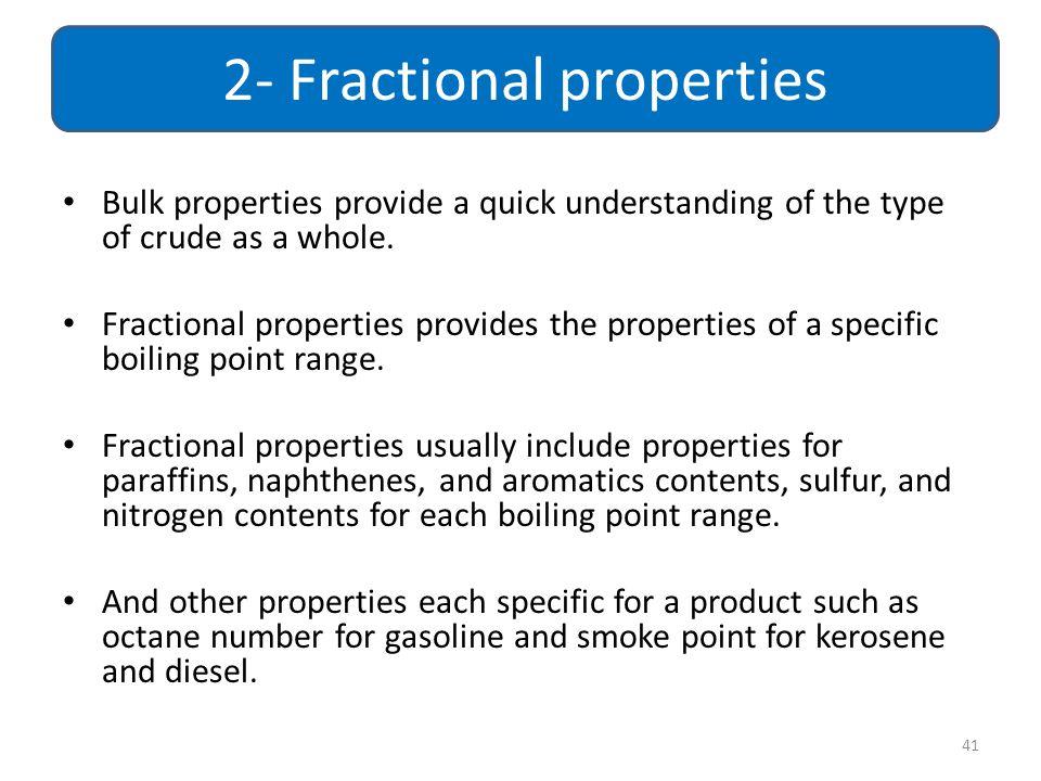 2- Fractional properties