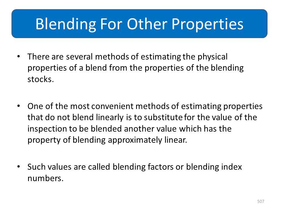 Blending For Other Properties