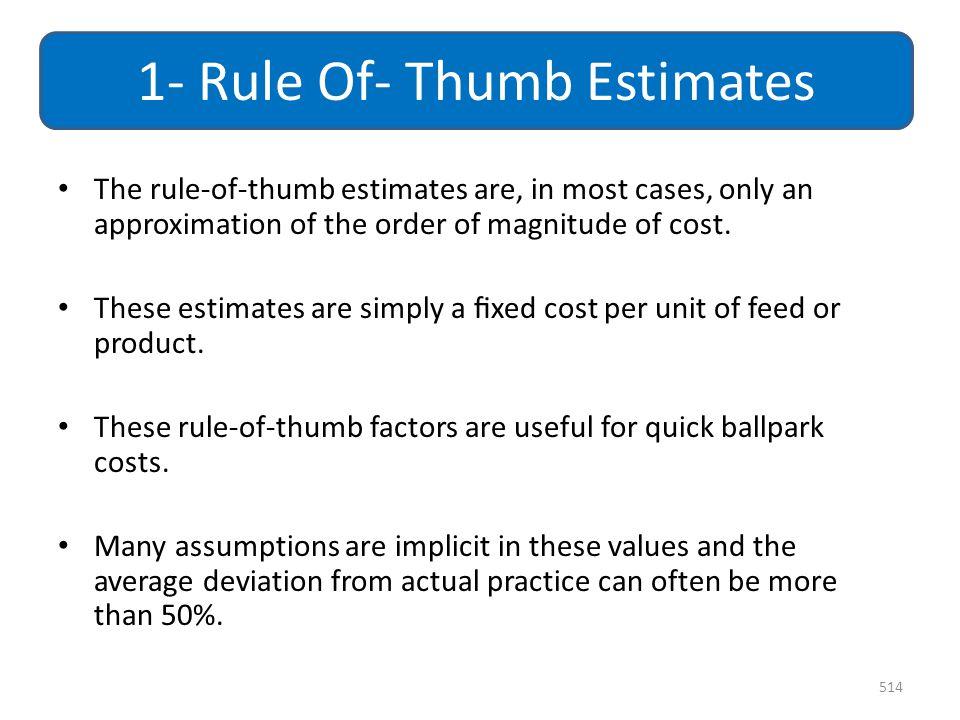 1- Rule Of- Thumb Estimates