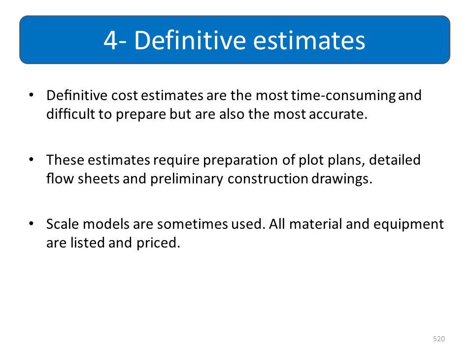 4- Definitive estimates