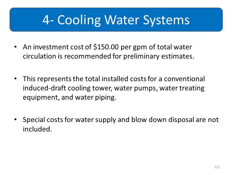 4- Cooling Water Systems