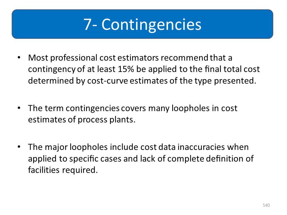 7- Contingencies