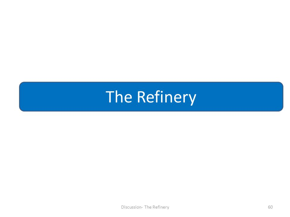 Discussion- The Refinery