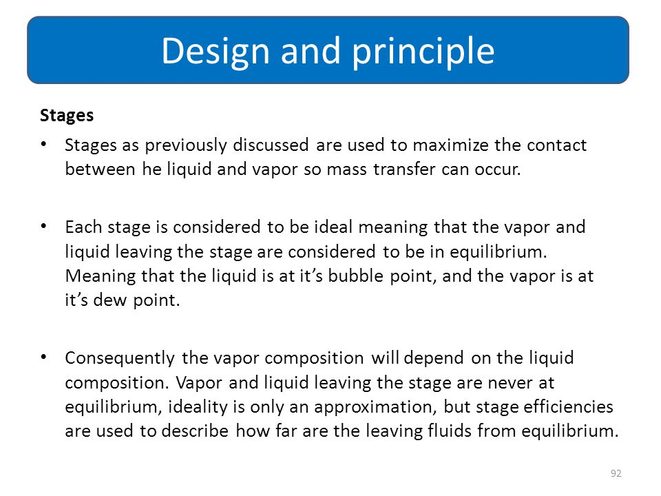 Design and principle Stages