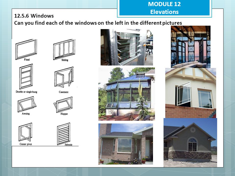 MODULE 12 Elevations 12.5.6 Windows