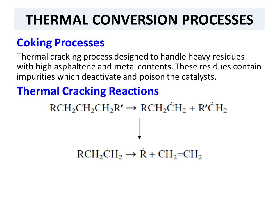 THERMAL CONVERSION PROCESSES