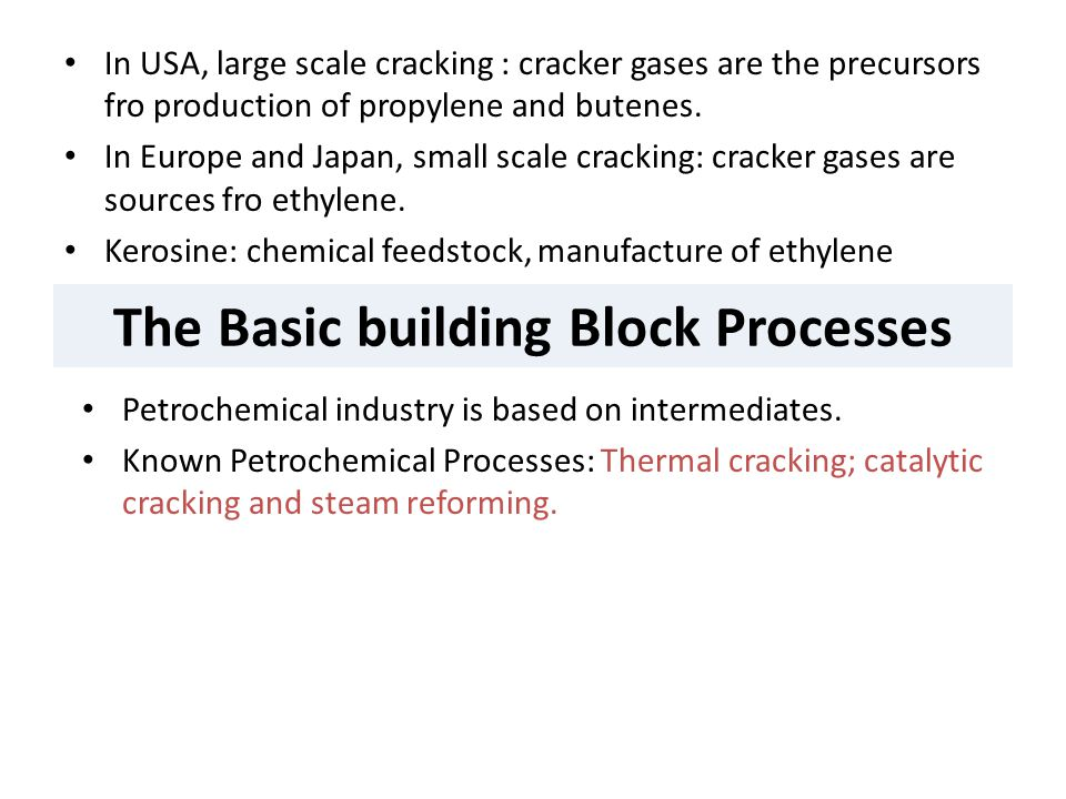 The Basic building Block Processes