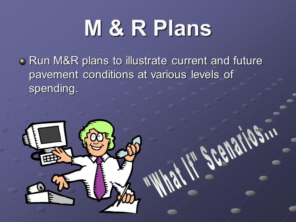 M & R Plans What If Scenarios...