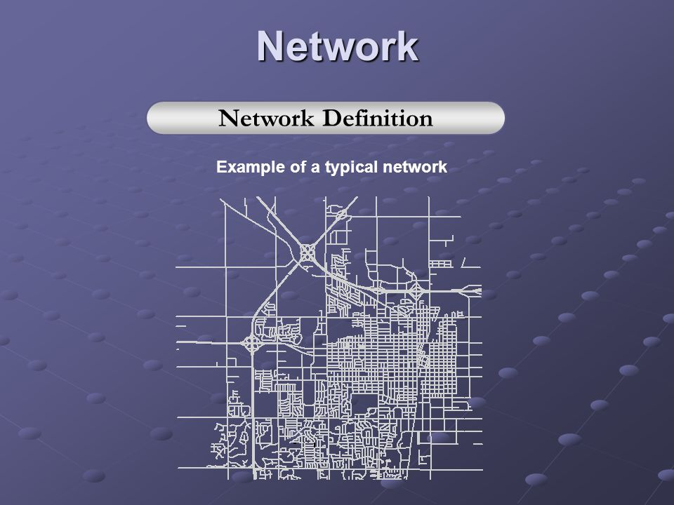 Example of a typical network