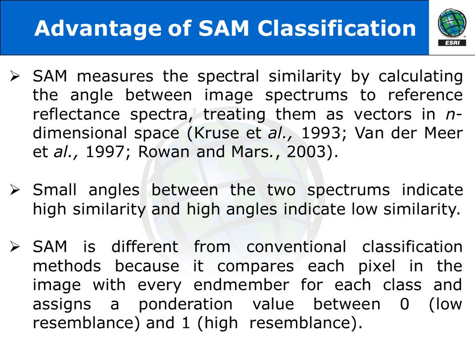 Advantage of SAM Classification
