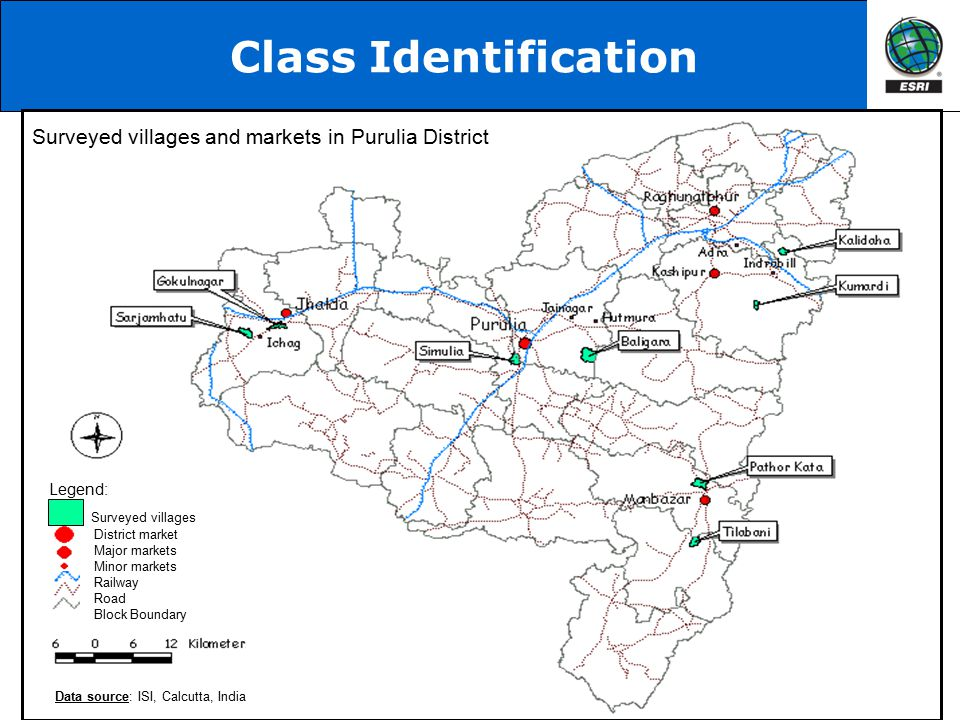 Class Identification Surveyed villages and markets in Purulia District