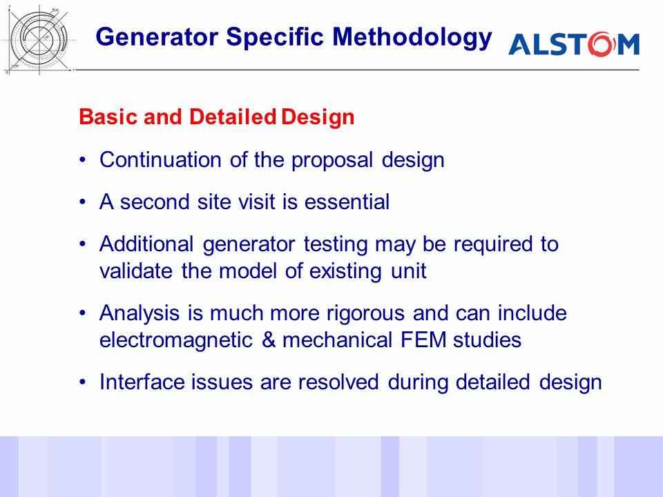 Generator Specific Methodology