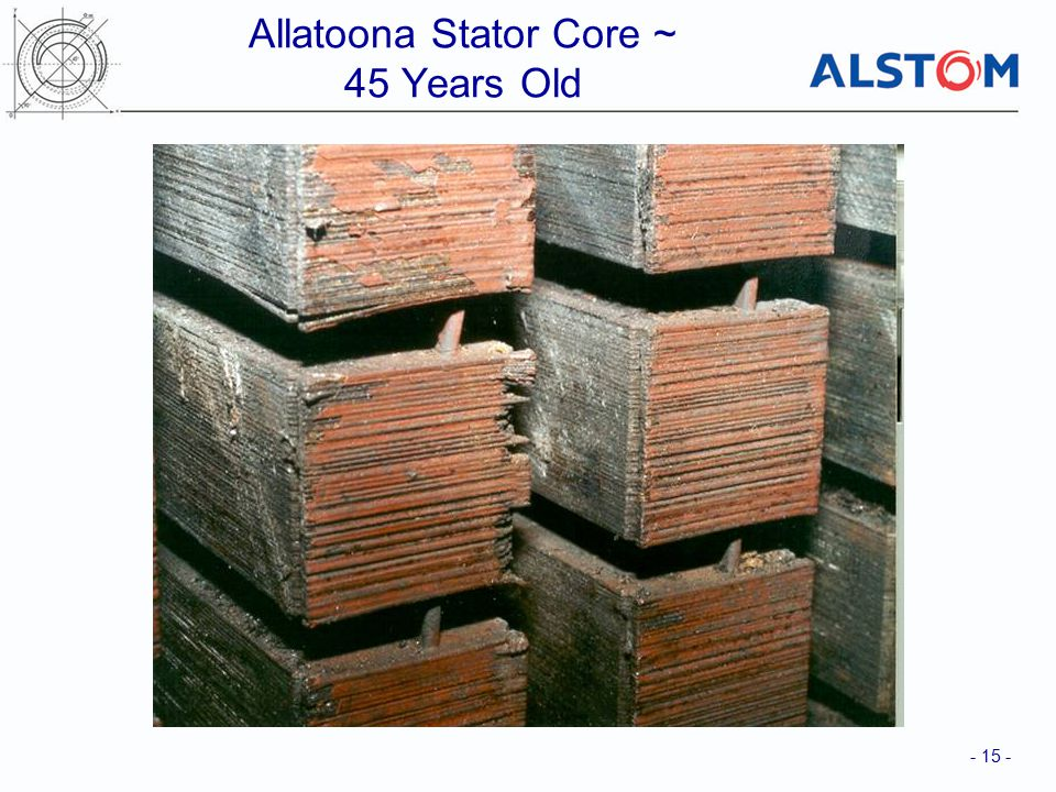 Allatoona Stator Core ~ 45 Years Old