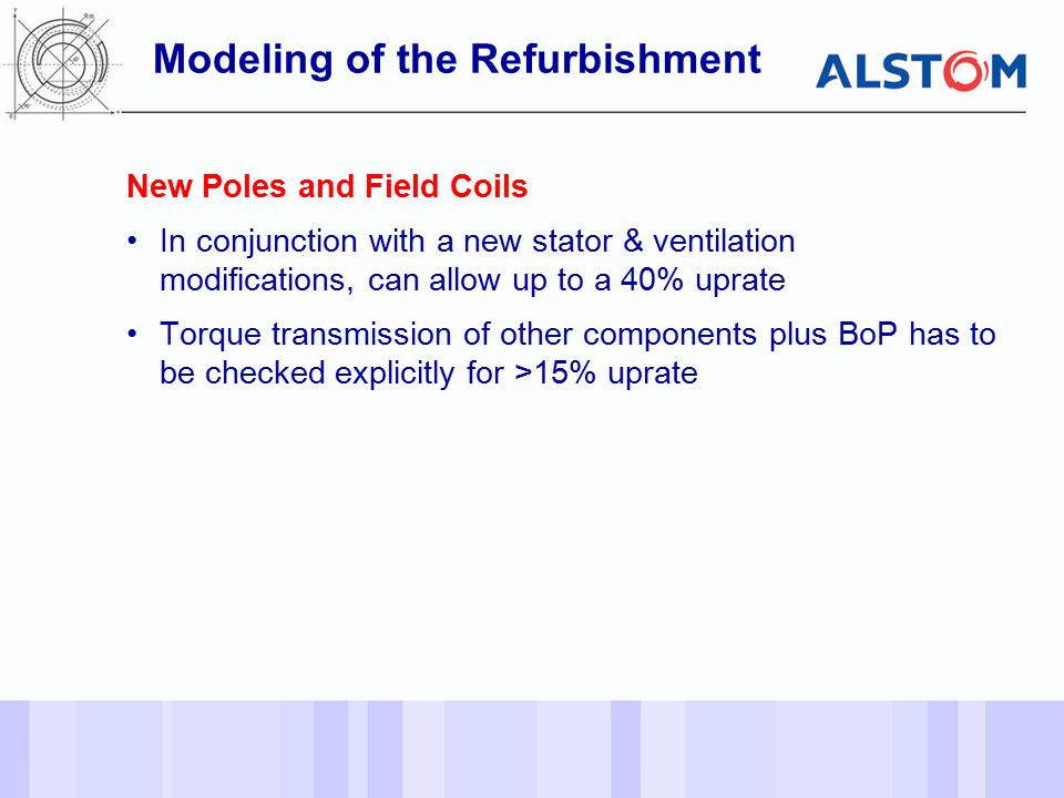 Modeling of the Refurbishment