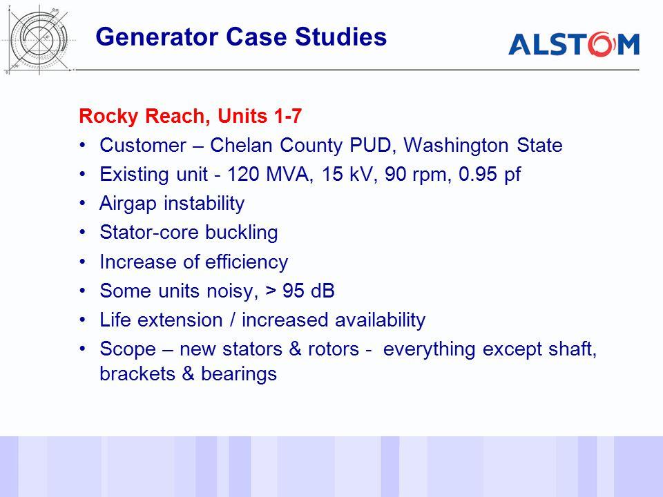 Generator Case Studies