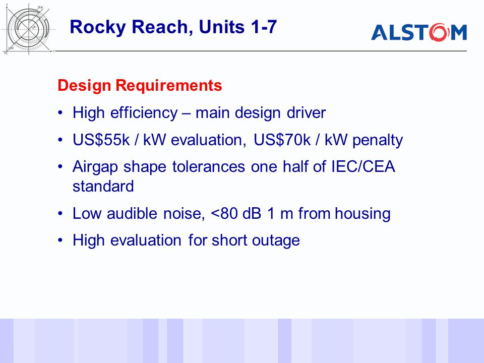 Rocky Reach, Units 1-7 Design Requirements
