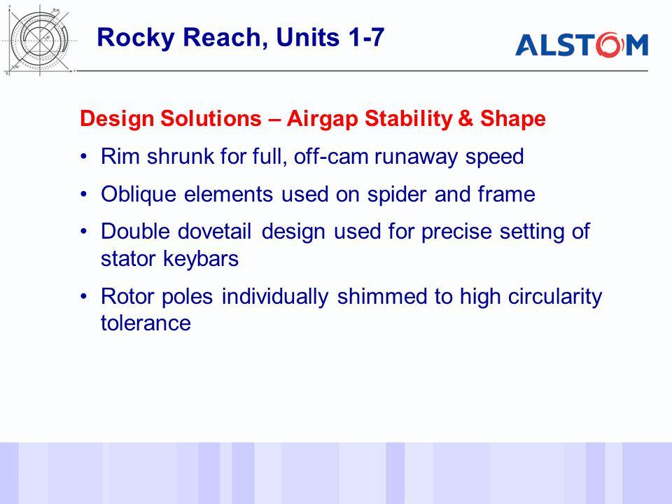 Rocky Reach, Units 1-7 Design Solutions – Airgap Stability & Shape