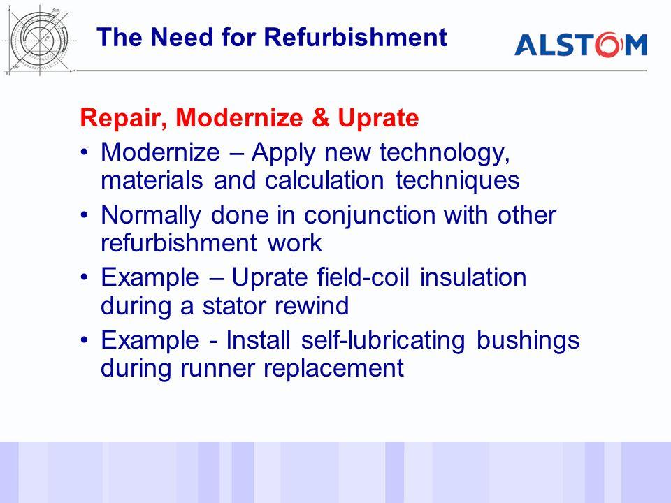 The Need for Refurbishment