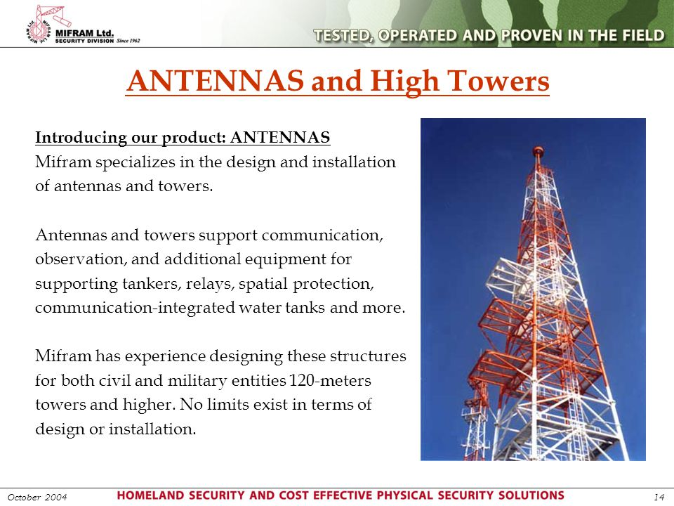 ANTENNAS and High Towers