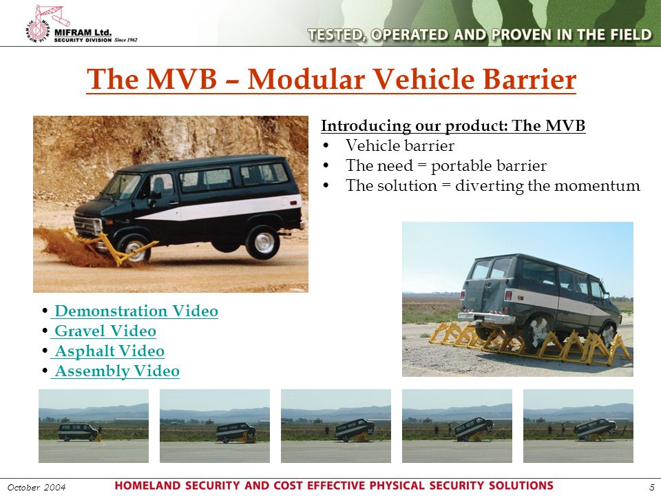 The MVB – Modular Vehicle Barrier