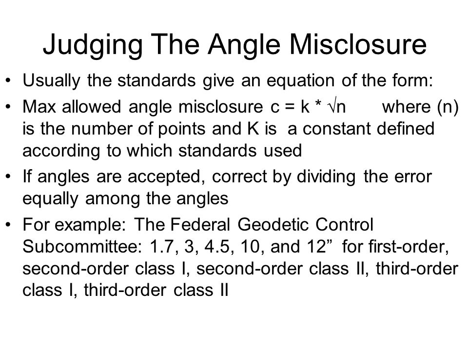 Judging The Angle Misclosure