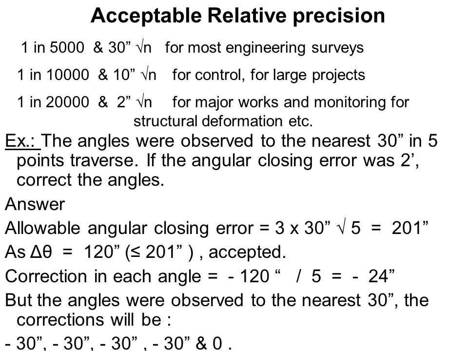 Acceptable Relative precision