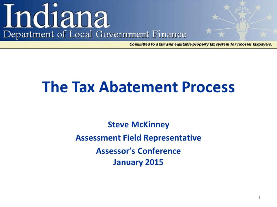 The Tax Abatement Process