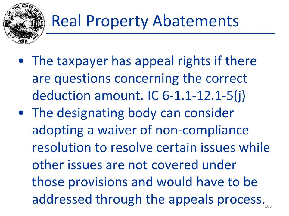 Real Property Abatements