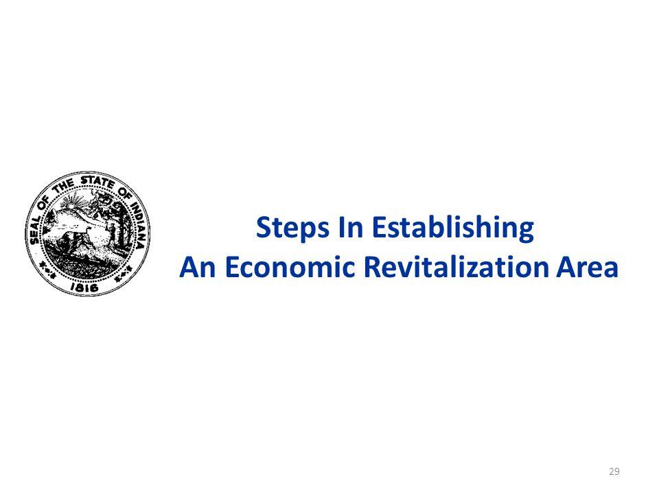 Steps In Establishing An Economic Revitalization Area