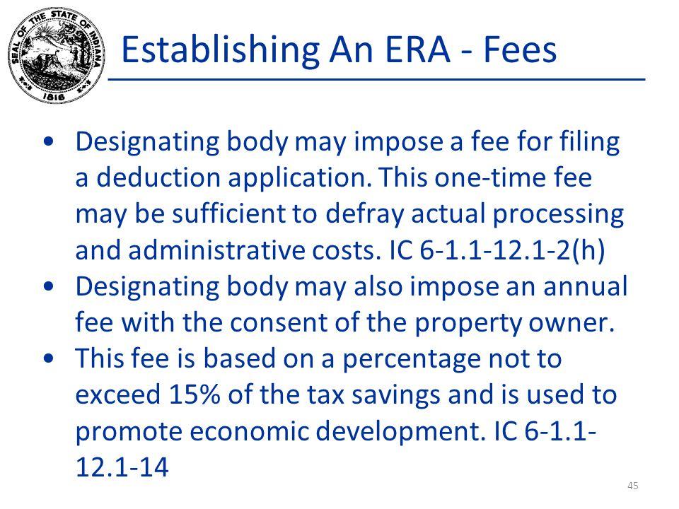 Establishing An ERA - Fees