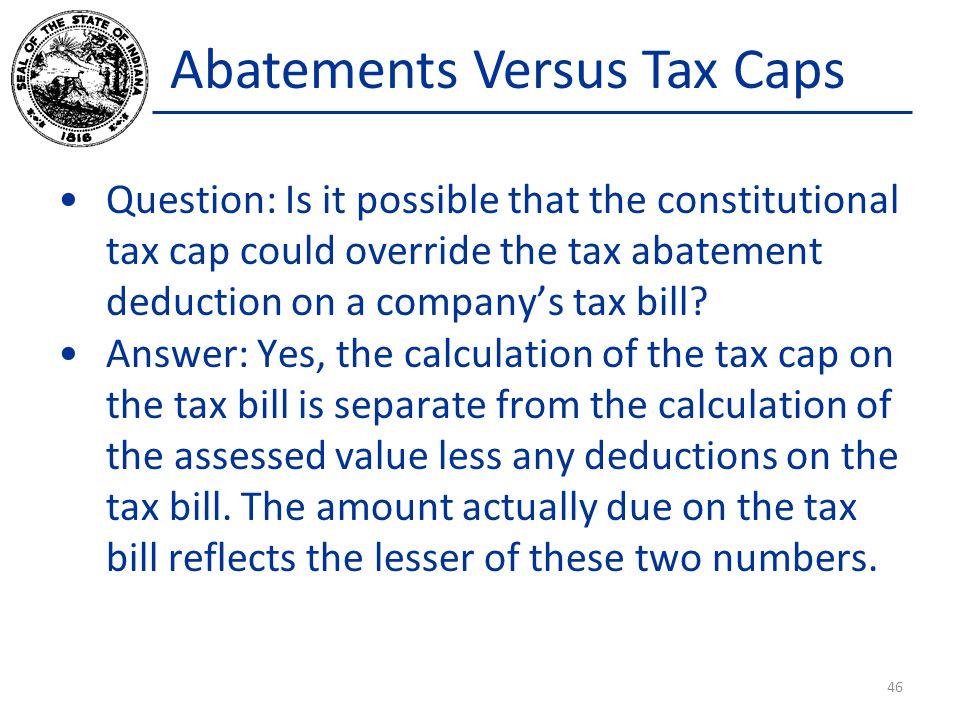 Abatements Versus Tax Caps