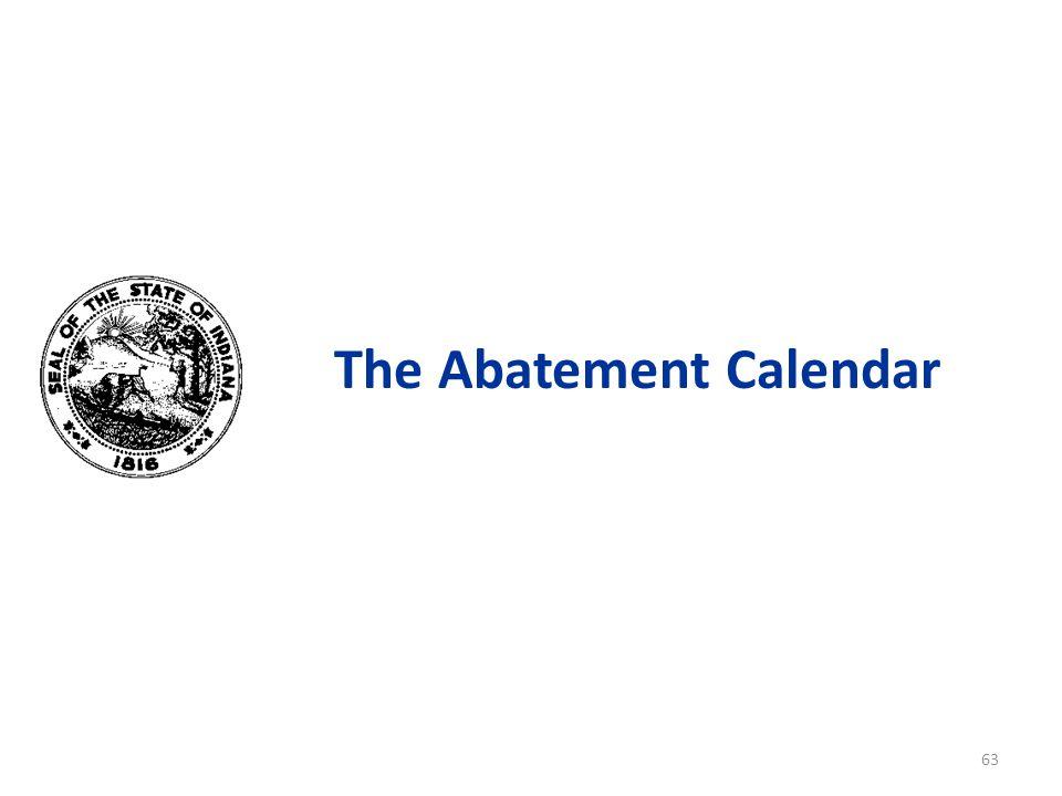 The Abatement Calendar