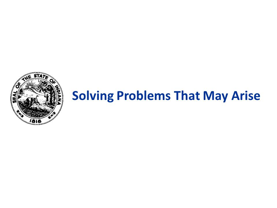 Solving Problems That May Arise