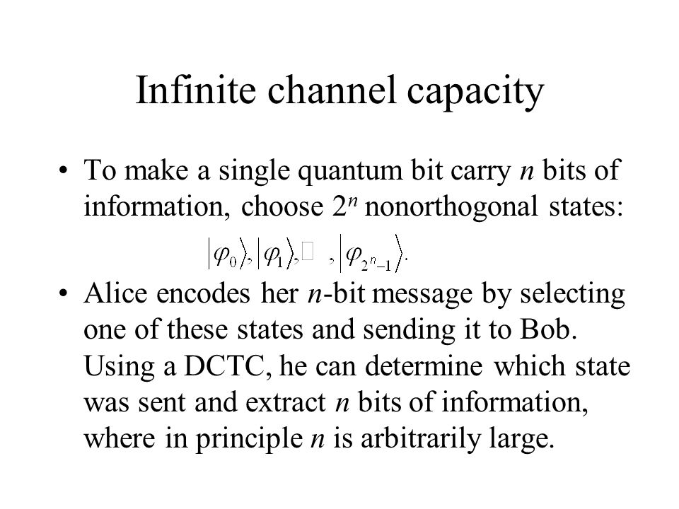 Infinite channel capacity