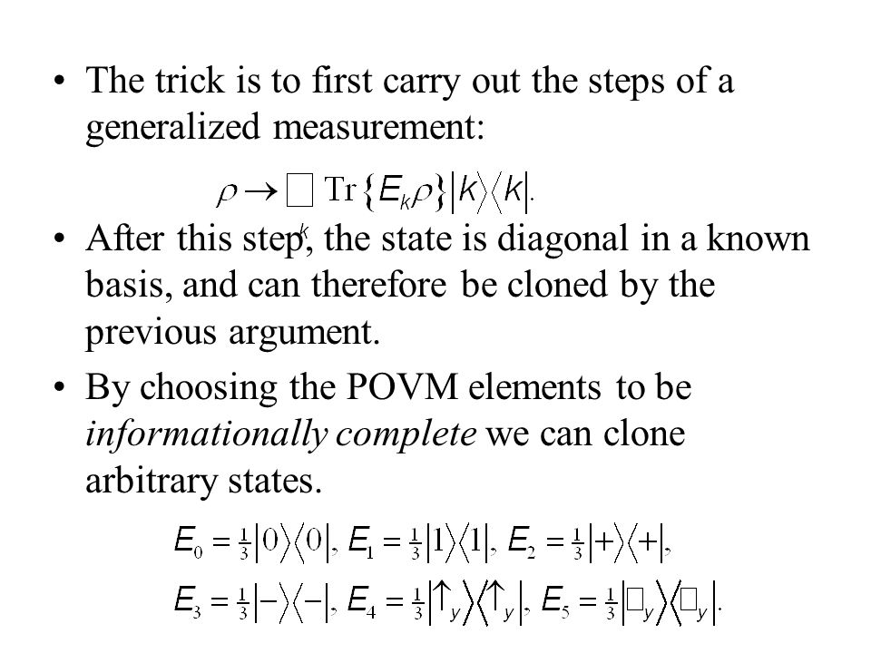 The trick is to first carry out the steps of a generalized measurement: