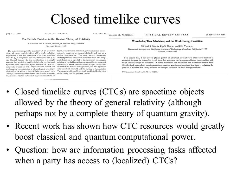 Closed timelike curves