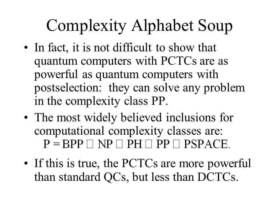 Complexity Alphabet Soup
