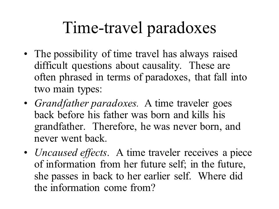 Time-travel paradoxes