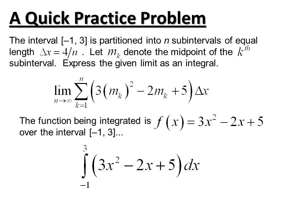 A Quick Practice Problem