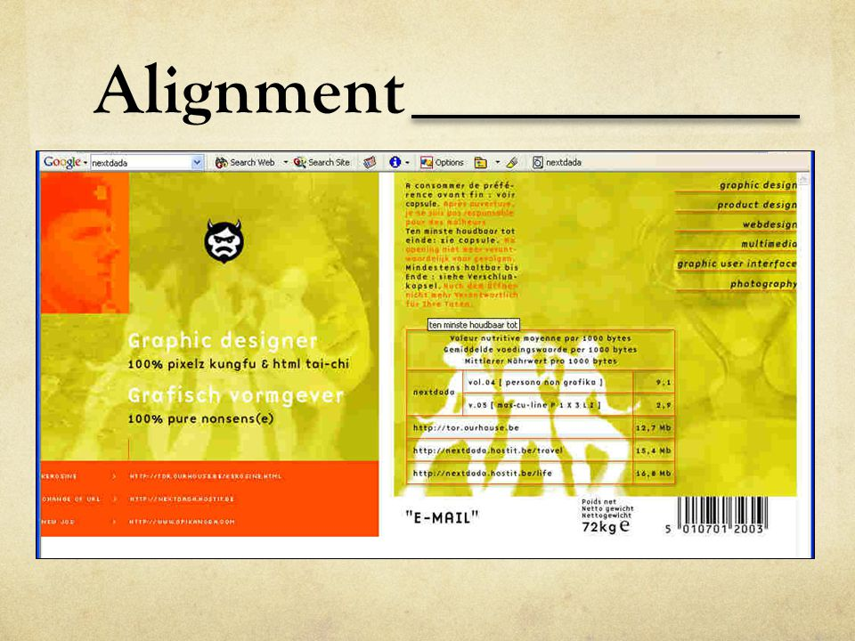 Alignment Take a look at this design.